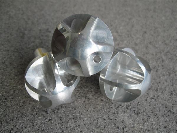 Aluminium Kachelbedienings-knopset