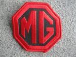 MG Badge  (Rood/Zwart)