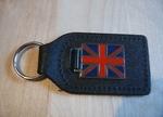 Lederen Sleutelhanger UK-vlag