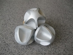 Aluminium Kachelbedienings-knopset,